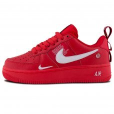 Унисекс Nike Air Force 1 '07 LV8 Utility Low All Red