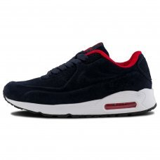 Зимние Nike Air Max 90 VT Blue/Red With Fur