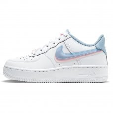 Женские Nike Air Force 1 LV8 White/Light Armory Blue