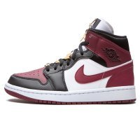 Женские Nike Air Jordan 1 Mid SE Black Dark Beetroot