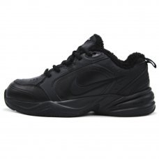 Зимние Nike Air Monarch IV Black With Fur