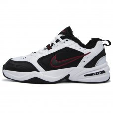 Зимние Nike Air Monarch IV White/Black With Fur
