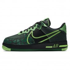 Мужские Nike Air Force 1 React Naija Black/Pine/Green Strike