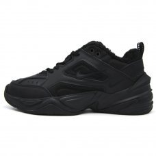 Фотография 1 Зимние Nike M2K Tekno All Black With Fur