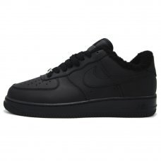 Зимние Nike Air Force 1 Low Black With Fur
