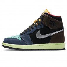 Унисекс Nike Air Jordan 1 High Baroque Brown/Black/Laser Orange/Pink