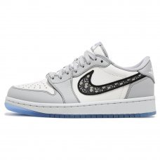 Фотография 1 Унисекс Nike Air Jordan 1 Low Dior Grey/White