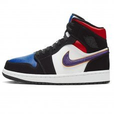 Фотография 1 Мужские Nike Air Jordan 1 Mid SE Black/Field Purple/White