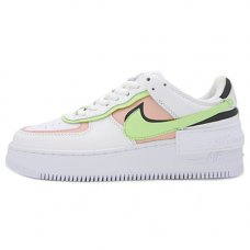 Женские Nike Air Force 1 Shadow White/Black/Volt/Peach
