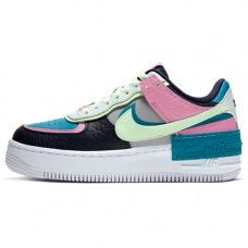 Женские Nike Air Force 1 Shadow Lt Smoke Grey/Barely Volt-Oracle Aqua