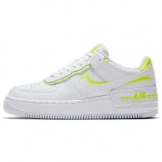 Женские Nike Air Force 1 Shadow White/White-Lemon Venom
