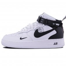 Зимние Nike Air Force 1 Mid '07 LV8 White/Black With Fur