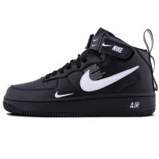Зимние Nike Air Force 1 Mid '07 LV8 Black With Fur