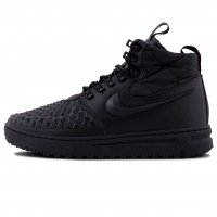 Зимние Nike Lunar Force 1 Duckboot All Black With Fur
