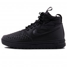 Фотография 1 Зимние Nike Lunar Force 1 Duckboot All Black With Fur