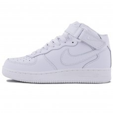 Фотография 1 Зимние Nike Air Force 1 Mid All White With Fur