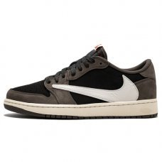 Мужские Nike Air Jordan 1 Low Travis Scott Black/Dark Mocha