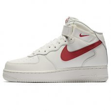 Мужские Nike Air Force 1 Mid In Sail And University Red