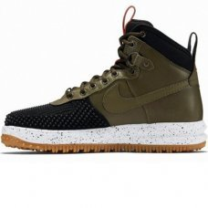 Зимние Nike Lunar Force 1 Duckboot Olive With Fur